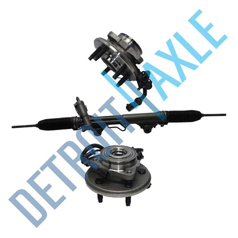Rack And Pinion Bearing by 3 Pc Set Steering Rack And Pinion 2 Wheel Hub Bearing Assembly 4 0l W Abs For Sale Item