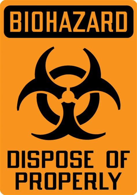 Where To Dispose Of A by Biohazard Sign Biohazard Dispose Of Properly With