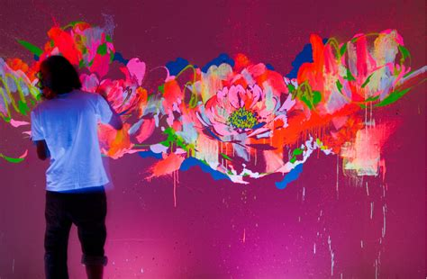 glow in the paint that works erretres channels japanese pop culture for philippe starck