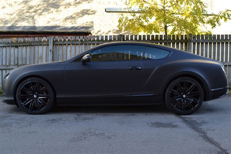 bentley black matte matte black wrap for bentley continental gt reforma uk