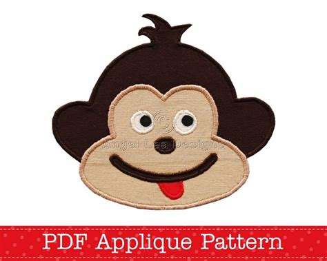 monkey applique cheeky monkey applique template animal diy children