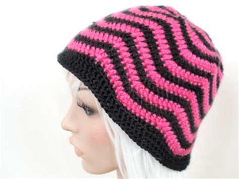 zig zag stripe crochet pattern wavy zig zag striped crochet beanie pattern jenn likes yarn