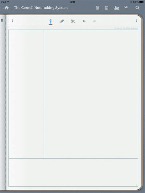 notetaking template cornell note taking system template template for penultimate
