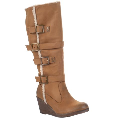 new low wedge heel knee high boots size 3 8