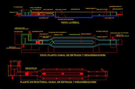 desarenador dwg full project  autocad designs cad