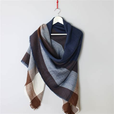 check blanket scarf shawl by studio hop