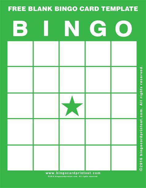 free printable bingo card template free blank bingo card template bingocardprintout