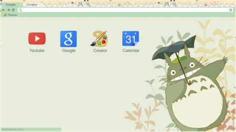 theme chrome totoro totoro chrome theme themebeta