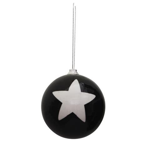 weihnachtskugel cm schwarzweiss sterngestreift