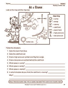 Interpreting A Weather Map Worksheets by Weather Maps And Worksheets On