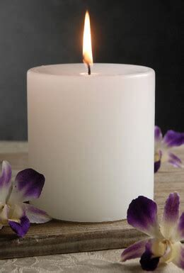 White Pillar Candle 4x4