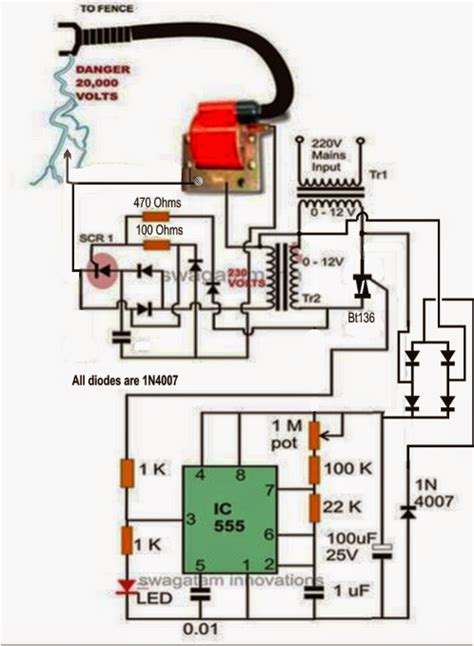 a fence charger energizer circuit explained