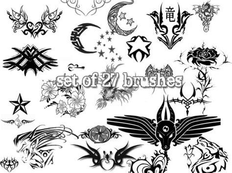 photoshop tattoo brushes amazing tattoo photoshop brushes psddude