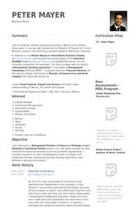 sle cfo resume finance resume resume cv template 28 images exle