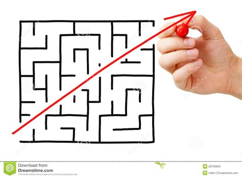 maze shortcut royalty free stock image image 28793656