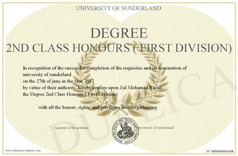 degree 2nd class honours division