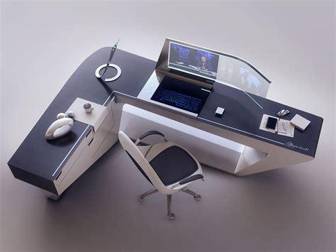futuristic desk artstation modern desk design encho enchev sci fi 2