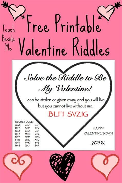 valentines day riddle free printable riddle cards teach beside me