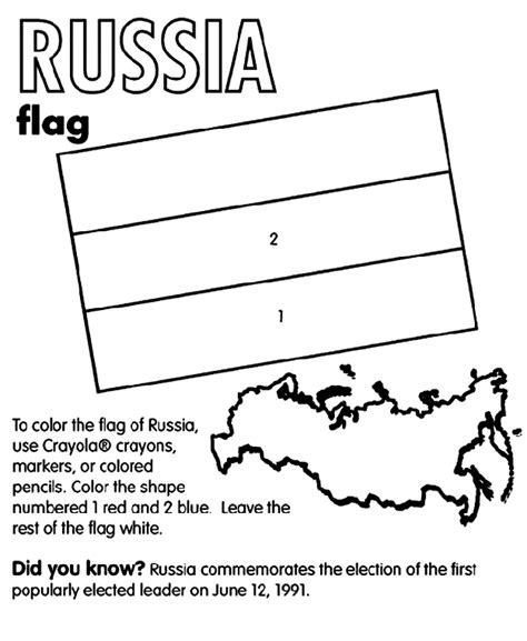 flag coloring pages with key russia crayola co uk