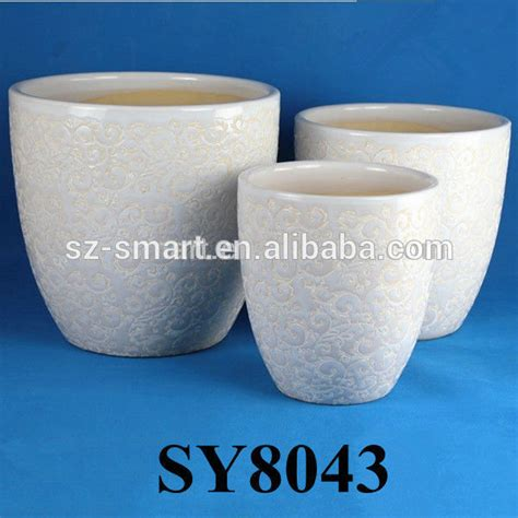 Large White Ceramic Planters by White Large Ceramic Flower Pots Buy Large Ceramic Flower