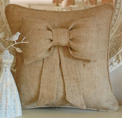 How To Sew Burlap Pillows by Bow Burlap Pillow Cover