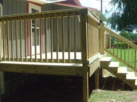 decking banister decks and handrail information