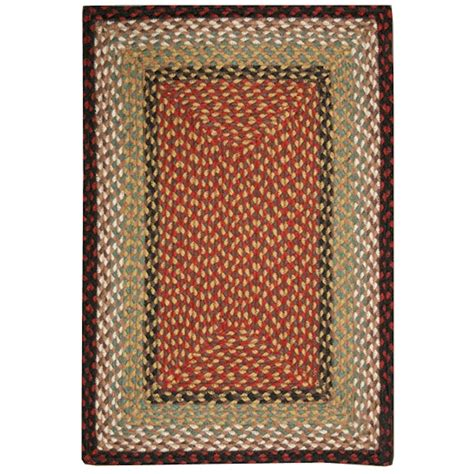 rectangle rugs burgundy mustard braided rectangle rugs