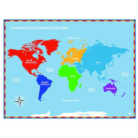 map world continents world continents and oceans map grahamdennis me