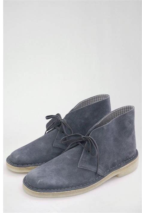clarks originals desert boots denim blue suede buy