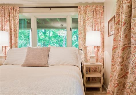 peach bedroom curtains get privacy and style in basement with these best basement