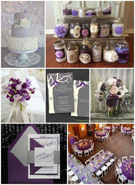 purple gray wedding ideas rustic wedding chic
