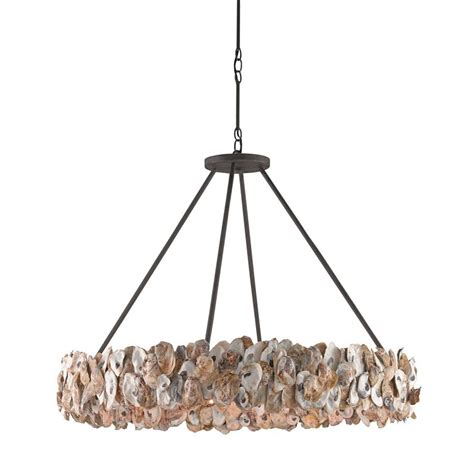 Circle Chandelier Light Currey Company Oyster Circle Chandelier