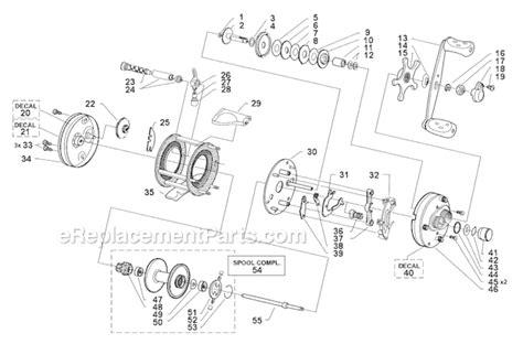 abu garcia reel parts diagram abu garcia 5500 c3 parts list and diagram 99 09