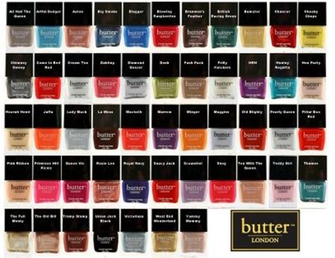 butter london nail polish colors butter london nail polish chart butter london pinterest