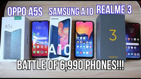 oppo a5s vs samsung a10 vs realme 3 specs gaming battery heating