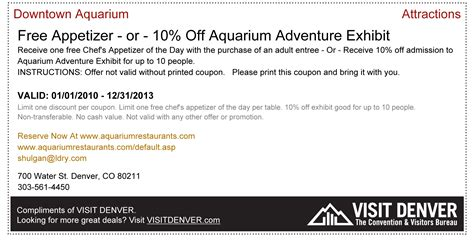 Printable Restaurant Coupons Denver | downtown aquarium denver coupons 2015 best auto reviews