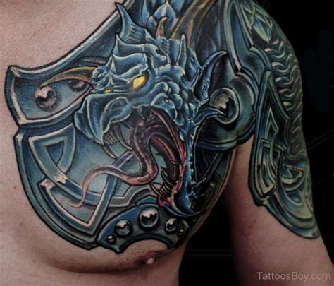 Tattoo Chest Shield   armor tattoos tattoo designs tattoo pictures page 2