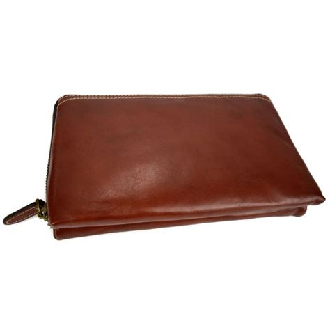 Zipped Pouch leather pouch leather zipped bag big leather clutch zipper