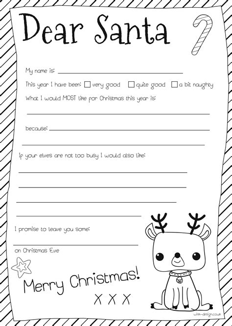 letter to santa template free printable black and white santa letters on pinterest santa letter letter to santa