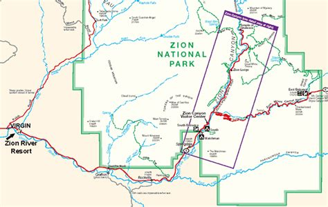 printable map of zion national park rv parks near zion national park rv park near zion