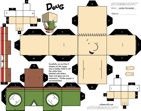 Cubee Papercraft - doug funnie cubee template by jordof131 on deviantart