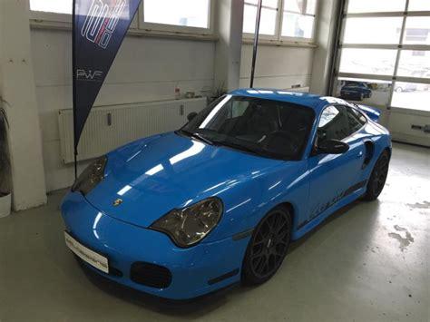 Tieferlegung Porsche 996 by Porsche 911 996 Turbo Folierung In Rivierablue By 2m