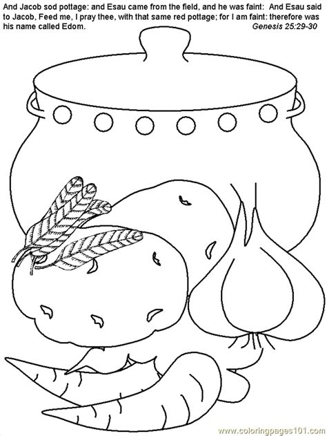 coloring pages jacob and esau bible peoples gt jacob and