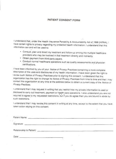 Patient Consent Letter patient consent form choice image cv letter and