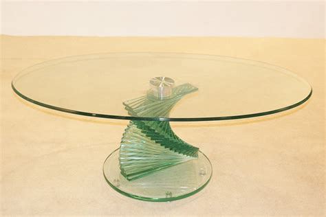 Swirl Glass Coffee Table Swirl Glass Coffee Table Hl269