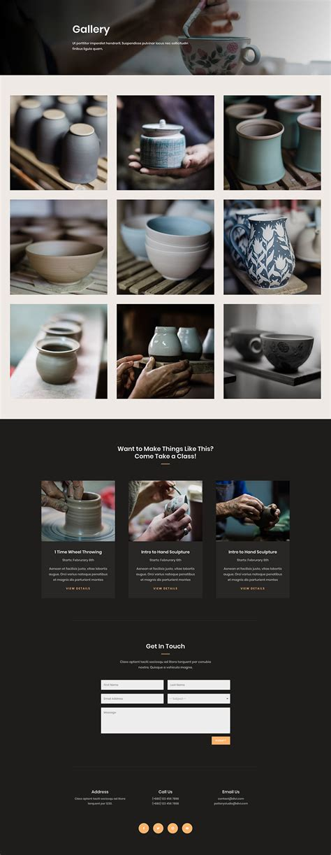 elegant themes com gallery get a beautifully polished pottery studio layout pack for