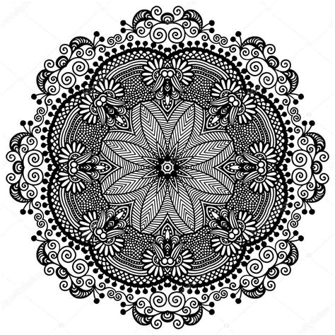 black and white round pattern kreis spitze ornament runde dekorative geometrische