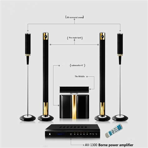 hifi 5 1 wireless home theater system powerful 600 800w