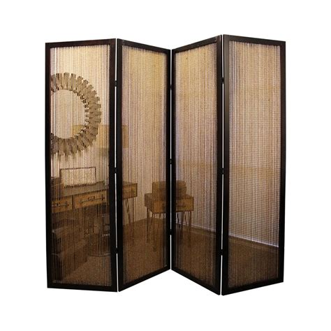 7ft room divider lahaina 7 ft brown 4 panel room divider sg 195a the