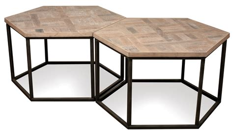 Hexagon Coffee Table Riverside Furniture Thornhill 18301 Hexagon Coffee Table W Metal Base Dunk Bright Furniture